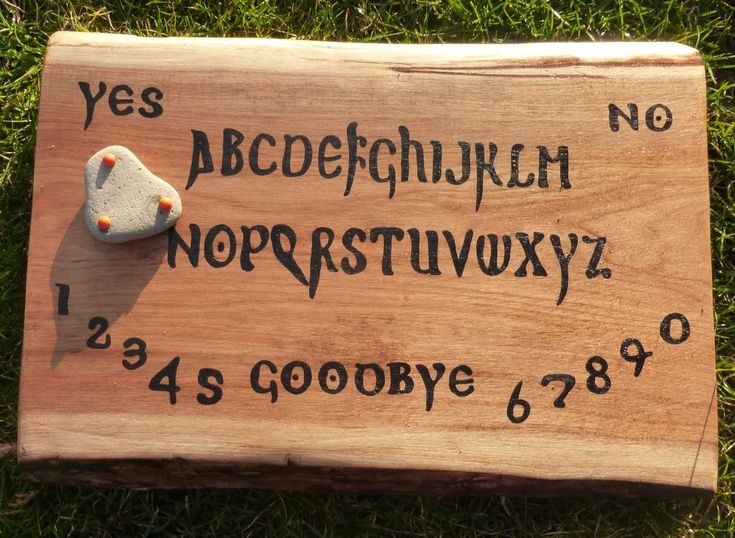 Ouija Board Wooden Black Gothic Occult Paranormal Spirit Ghost Haunted Game Wood