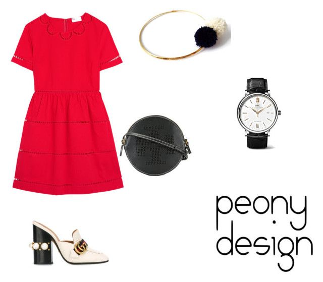Peony Design by teri-peony on Polyvore featuring RED Valentino, Gucci, Tory Burch and IWC Schaffhausen