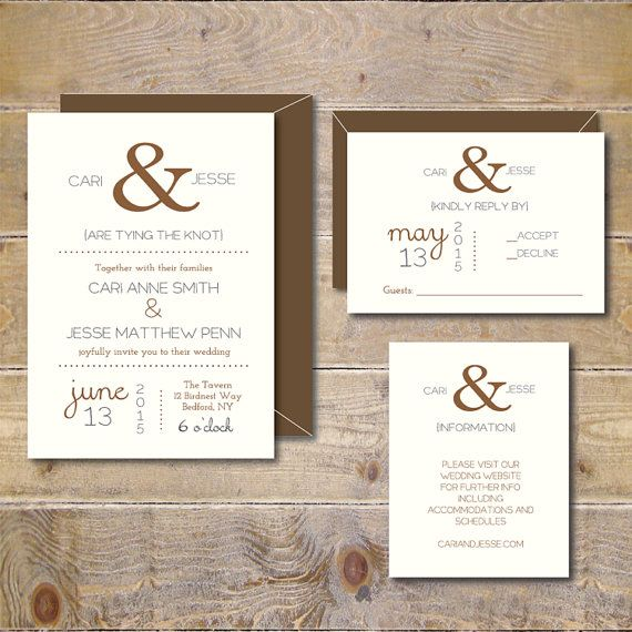 Ampersand Wedding Invitations . Wedding by SweetBellaStationery
