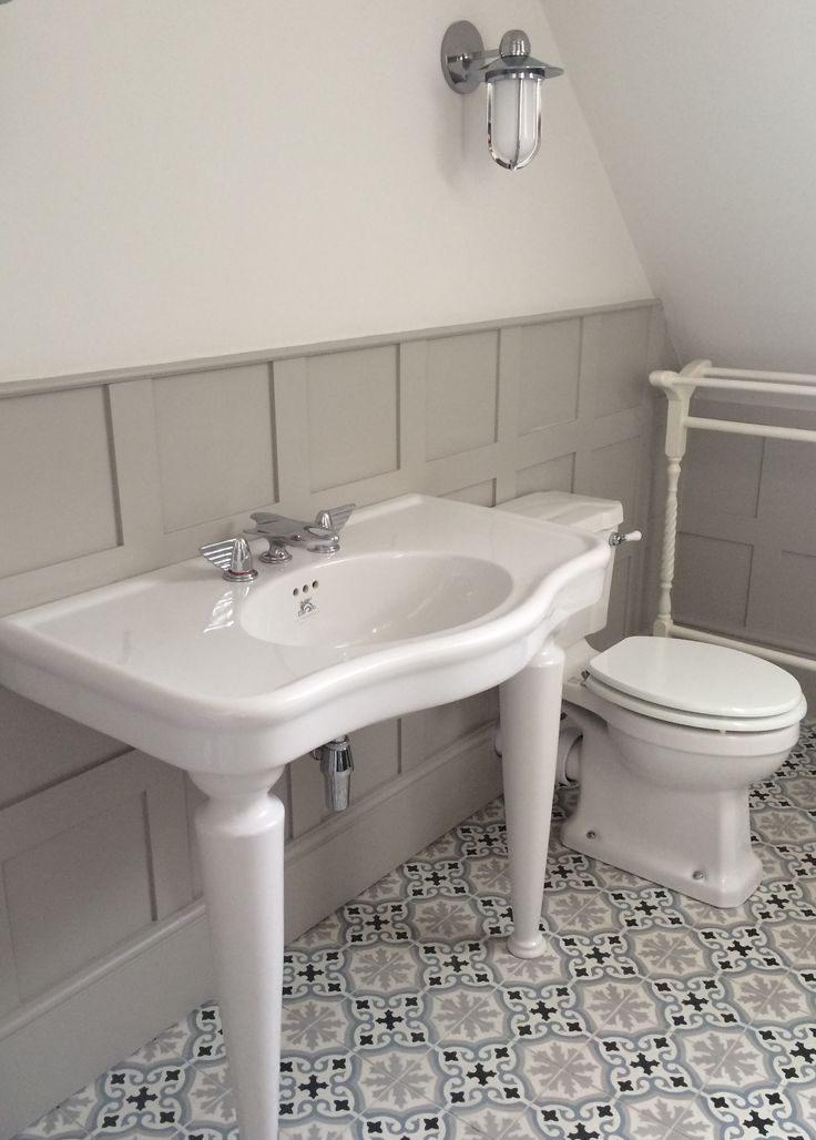 havana blue and grey encaustic cement tile laid in this gorgeous london