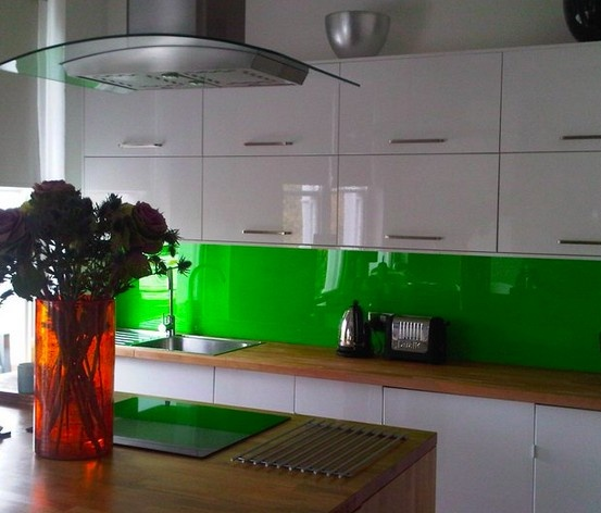 Green And Purple Kitchen: Lime Green Acrylic Splashbacks