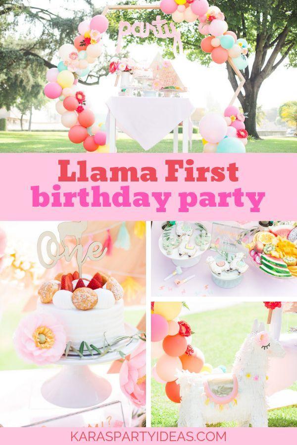 Llama First Birthday Party Kara S Party Ideas First Birthday Party Themes First Birthday Parties Twin Birthday Parties