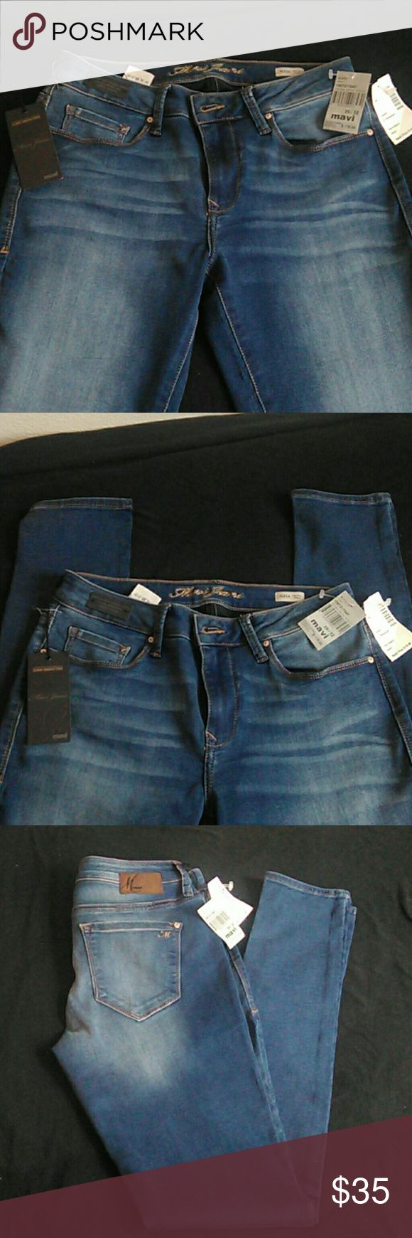 MAVI Mid-Rise Skinny Jeans (Size 29/32, or, 7) MAVI Alexa Shanti Authentic Aged Denim Jeans Brand new w/ tags Mid-Rise Skinny style Size is: 29/32, or, 7 juniors Original Price $118 These jeans are the highest quality denim that has a unique softness and superior recovery and are extremely comfortable. They are priced to GO! Mavi Jeans Skinny