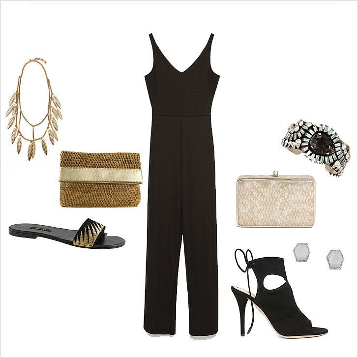 The perfect Zara jumpsuit to wear to a daytime or nighttime wedding — styled two ways.