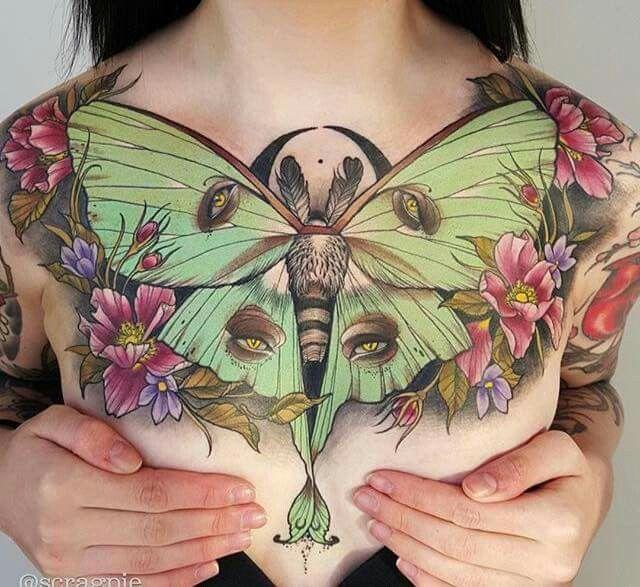 Luna Moth tattoo #tattoo #tattoos