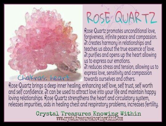 ROSE QUARTZ MEANING PROPERTIES  www.crystaltreasuresknowingwithin.com