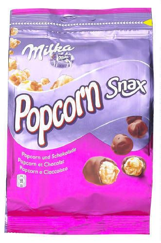 MILKA Snax popcorn chocolat 130gr