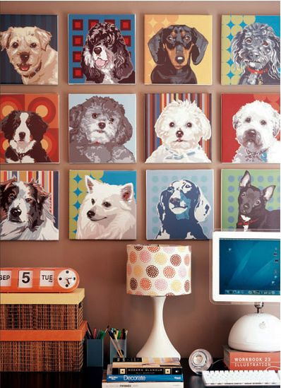 How wonderful is this dog art wall? -OPAWZ