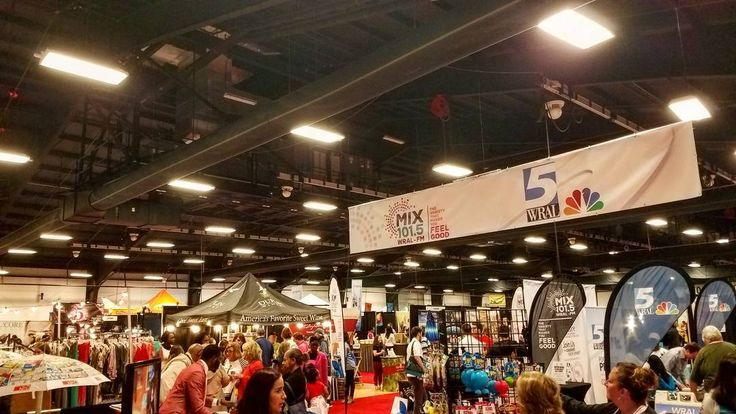 And now we're at the #southernwomensshow. It is a little less Etsy and a little more dept store but still fun and a lot going on.  Goes until 6pm tonight.  #raleighnc