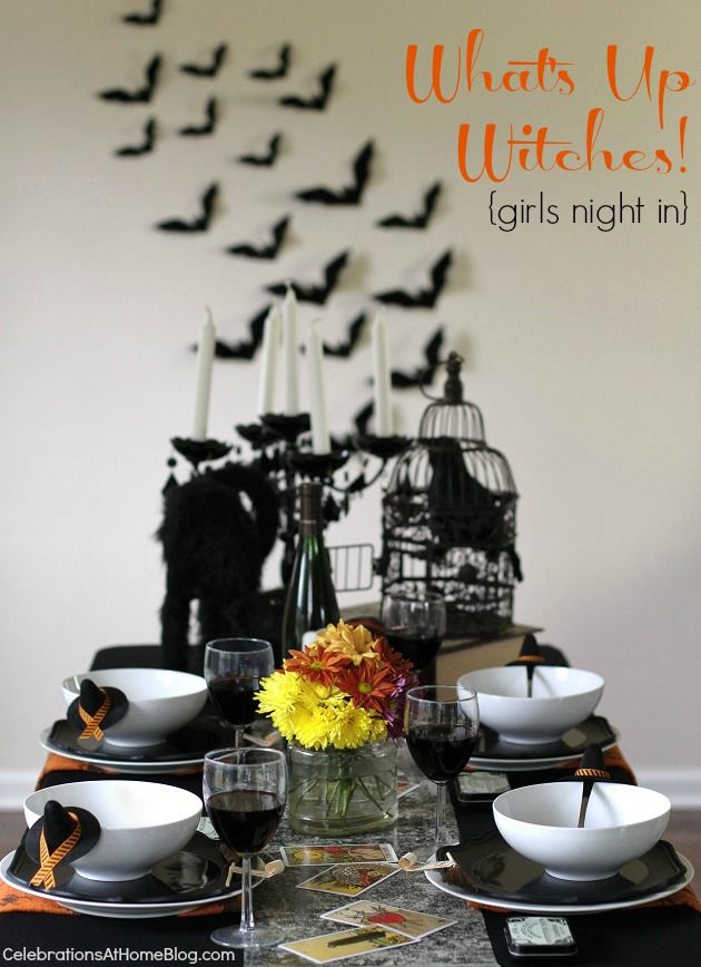 Halloween Party :: A Witches Night In!Witches Night, Halloween Parties, Halloween Decor, Holiday Halloween, Halloween Fun, Girls Night, Dinner Parties, Witchy Halloween, Parties Ideas