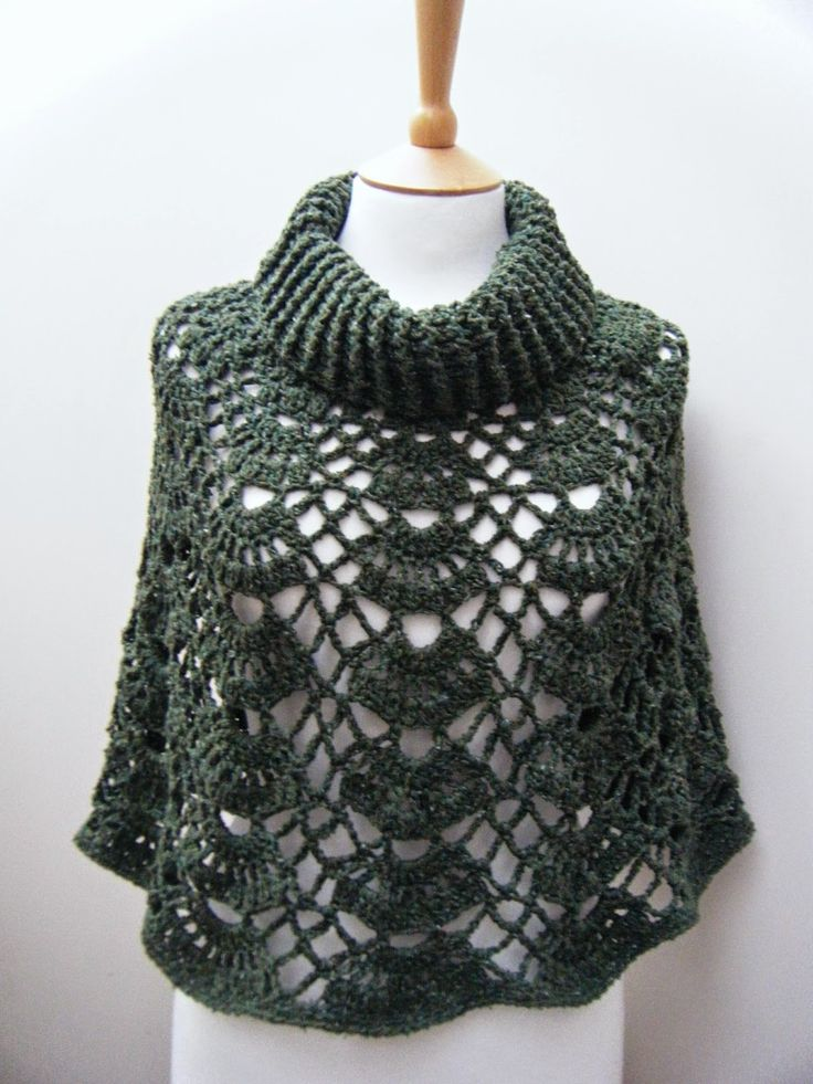 Free Crochet Patterns For Cowl Neck Poncho : Betsy d?la ....: Rustikaln? Poncho ha?kovane oble?en? ...
