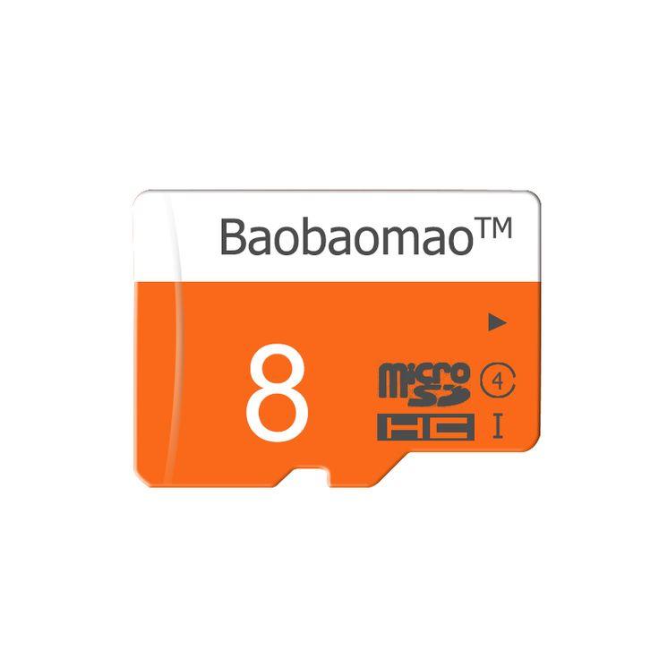 Pure Full 8GB Micro SD Card TF Flash Memory Class 4 Free Adapter Orange&White