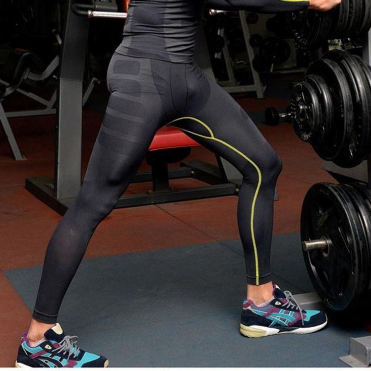 FuzWeb:Tight Wear Compression Pants Gear Fitness Pants Men Pantalon Hombre Stretchy Perfume Yoga Joggers Leggings Homme