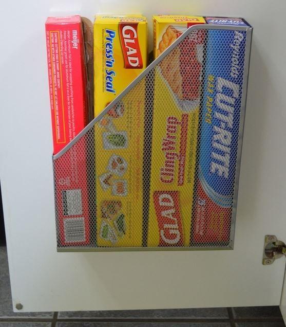 como organizar papel aluminio
