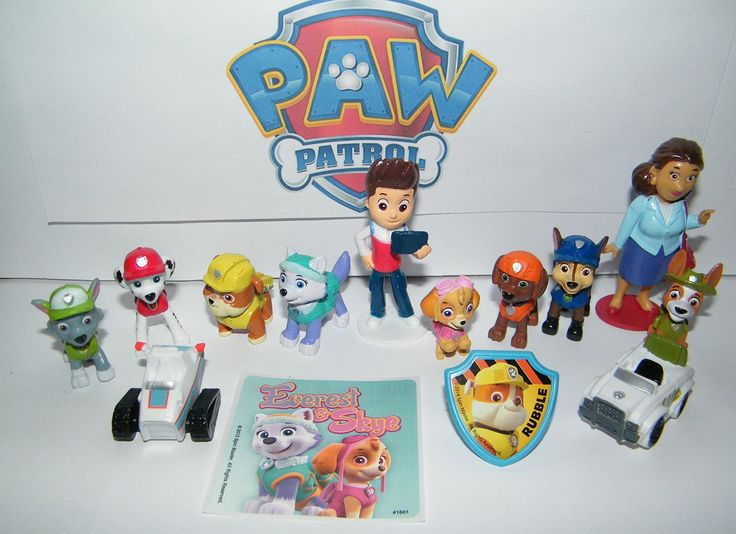 Paw Patrol Deluxe Figure Set of 14 Toy Kit with Original and New Pups like Everest and Tracker, New Vehicles, Special Sticker and a collectilbe PAWRing!. This fun set of 14 includes 12 Paw Patrol figures / vehicles, neat sticker and Paw Patrol ring!. These fun figures are 1 to 3 in tall. Most are self standing but some need to be hand held. These feature the popular Paw Patrol characters with some new characters and vehicles!. The set is nicely shipped in plastic with nobox. Please see…
