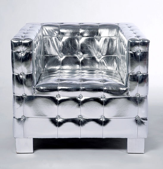 Butaca Chester Silver Cubo - Square Chair Chester Silver