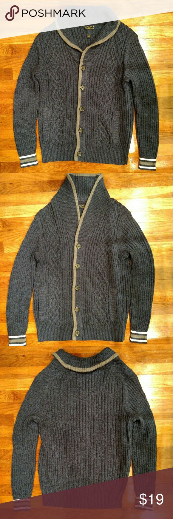 ➡ Club Room Men's Shawl Cardigan Sweater Men's cardigan with shawl collar.  100% Cotton.  Thick, soft, and cozy.  Perfect condition. Club Room Sweaters Cardigan