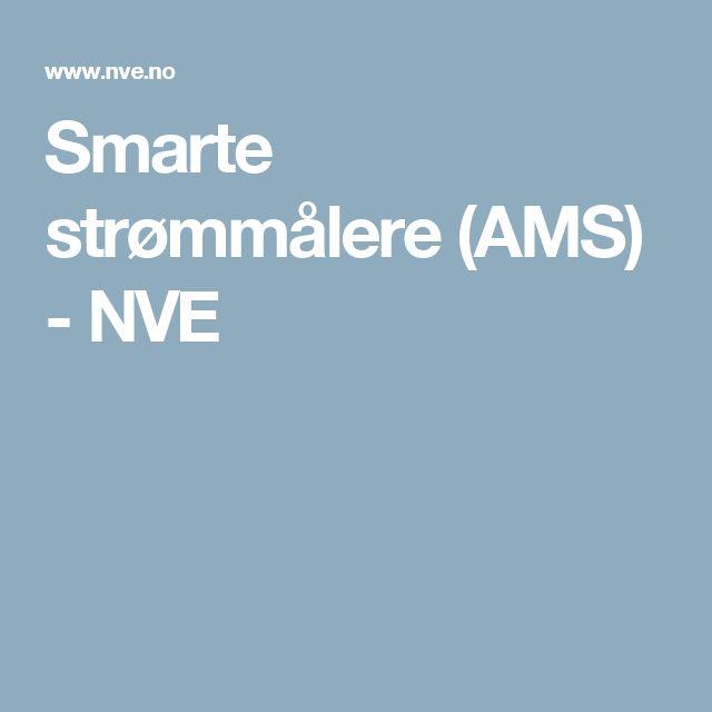 Smarte strømmålere (AMS) - NVE