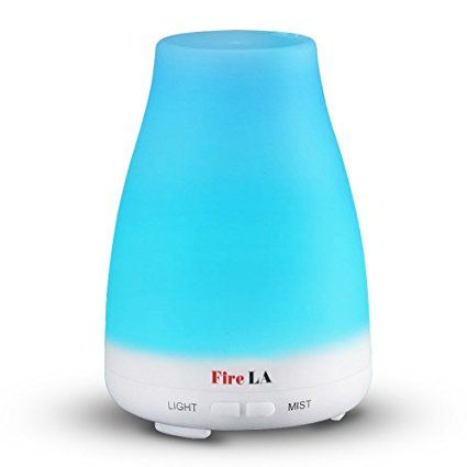 Fire LA 100ml Essential Oil Diffuser for Aroma Ultrasonic Air-Cool Mist and 7 Colors ( Aroma Diffuser + Ultrasonic Aroma Humidifier, Mist and Light Control, Timer + Auto Shut-off )