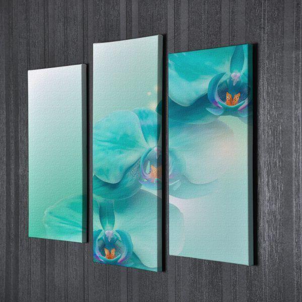 Модульная картина абстракция орхидеи   Магазин модульных картин