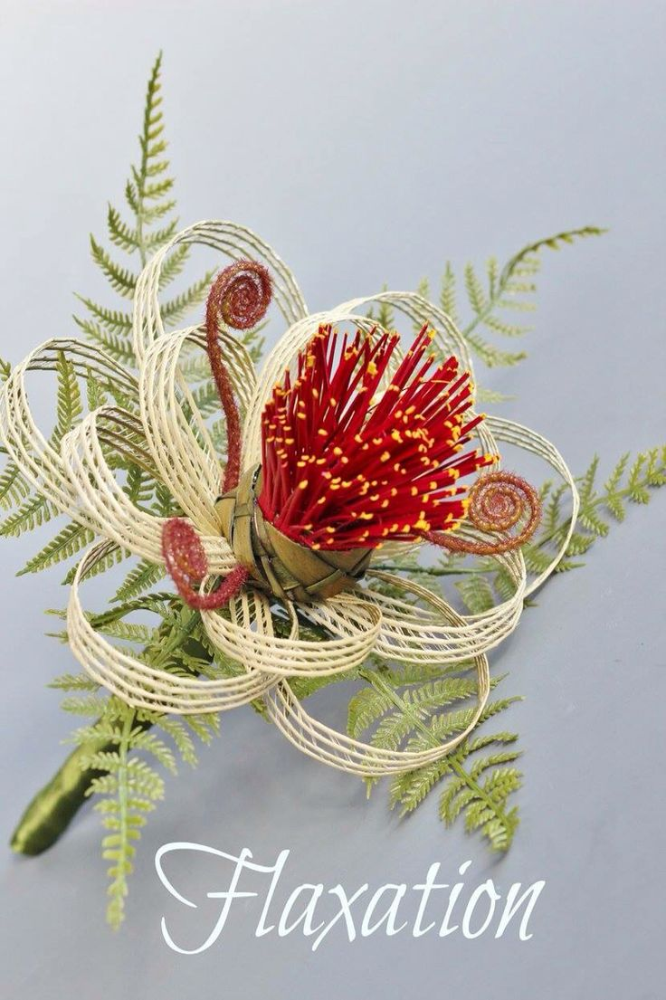 Pohutukawa post with fern and koru created to last by Flaxation. Deliver worldwide. www.flaxation.co.nz