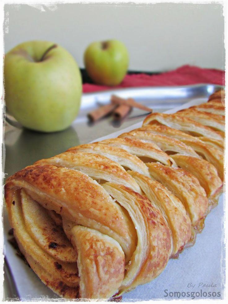 Receta. Trenza de hojaldre, manzana, miel y canela / Recipe. Braid pastry, apple, honey and cinnamon. Blog Somosgolosos