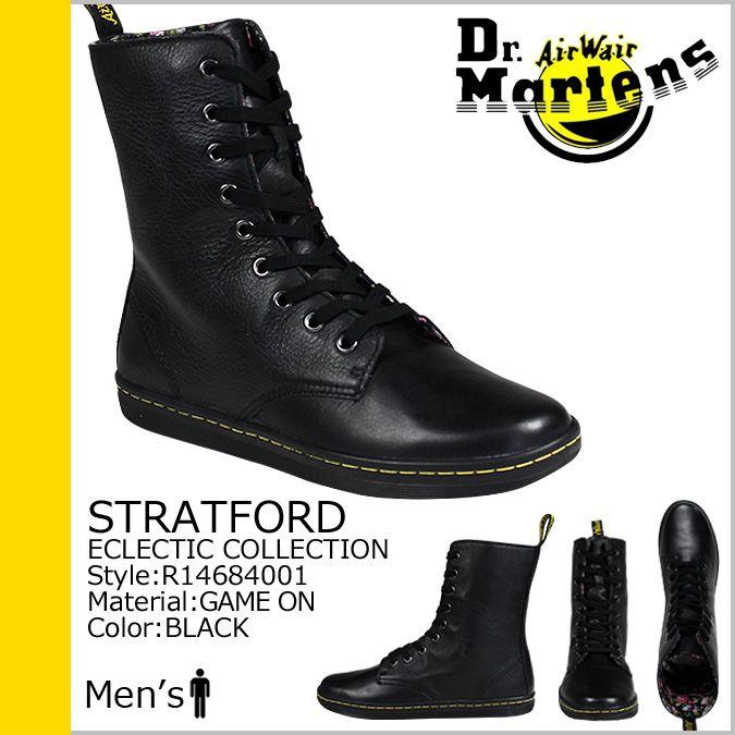 【楽天市場】[SOLD OUT]ドクターマーチン Dr.Martens R14684001 9ホール スニーカー [ ブラック ] STRATFORD レザー メンズ:スニークオンラインショップ