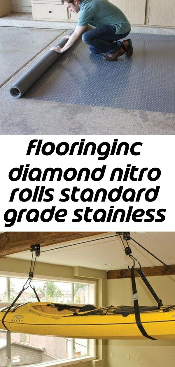 Flooringinc Diamond Nitro Rolls Standard Grade Stainless Steel 4 X4 Garage Flooring Roll Out Floor Protecting Mats Walma Garage Floor Kayak Storage Garage