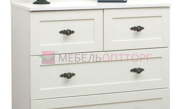 Белый комод для спальни Прованс 009.10-01 купить