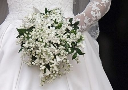 Lilly of the Valley & Stephanotis bouquet, so regal