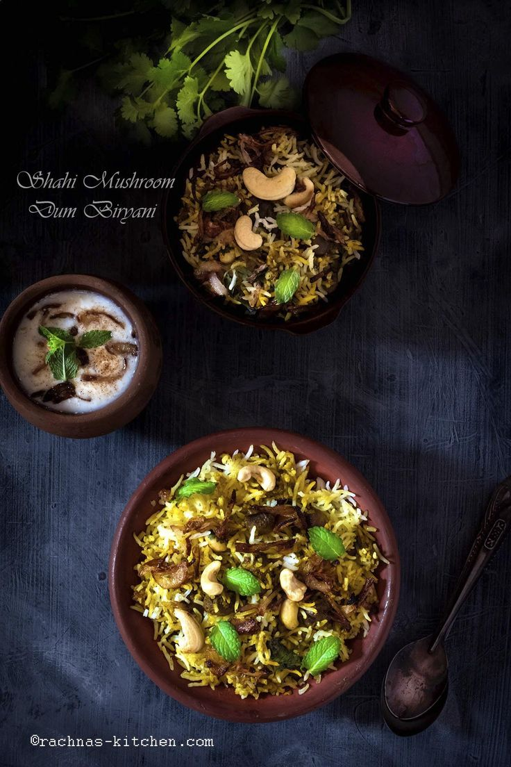 Mushroom dum biryani is a delicious combination of mushrooms and rice with aromatic spices. Step by step shahi mushroom dum biryani recipe with tricks.