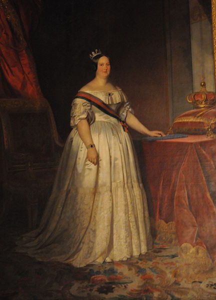 File:Queen Maria II (Mary II) of Portugal (May 1826-June 1828 & May 1834-1853) by F. Krumholz-1846.JPG - Wikipedia, the free encyclopedia