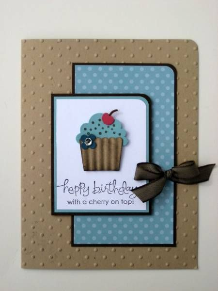 handmade birthday card ...  Create a Cupcake by Stampin' Up! ... like the layout and the message ...
