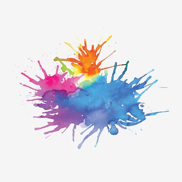 Efecto De Pincel De Fondo De Manchas De Acuarela Multicolor Multi Color Salpicar Tinta Png Y Vector Para Descargar Gratis Pngtree Watercolor Splash Watercolor Watercolor Splatter
