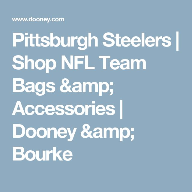 Pittsburgh Steelers | Shop NFL Team Bags & Accessories | Dooney & Bourke