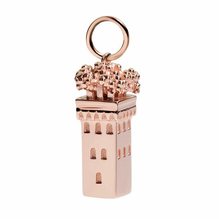 Oro rosa 9k  tower rose gold shine briliant civita queriot componibili regalo fashion jewellery