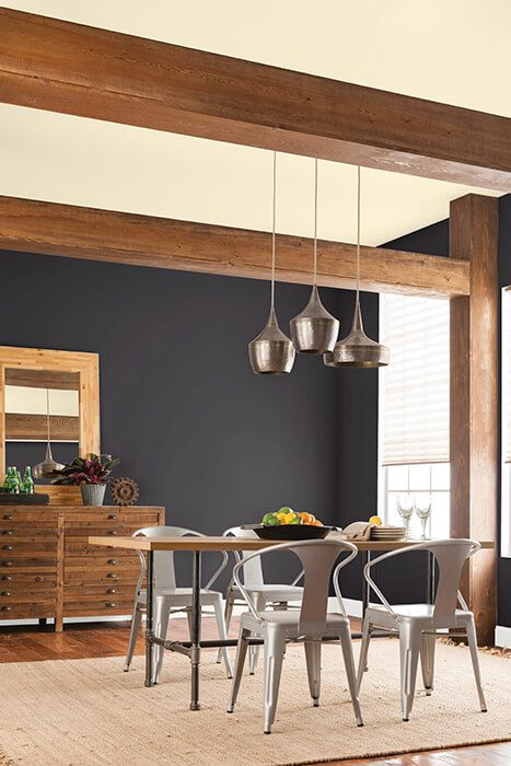 Go Bold With A Black Accent Wall Home Decorating