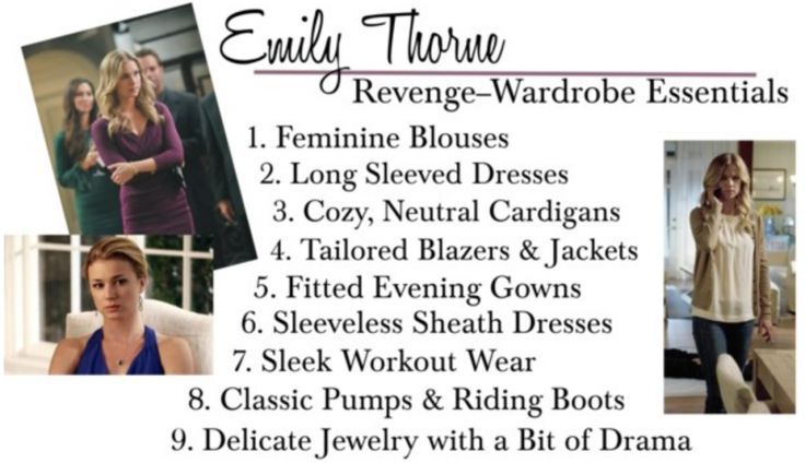 Emily Thorne Wardrobe Essentials. YES