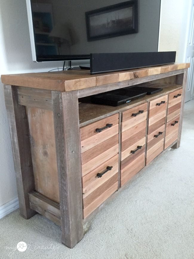 Pj 308 An Upcycled Link Party Furniture Inspiration Pinterest Wood Reclaimed Media Console And