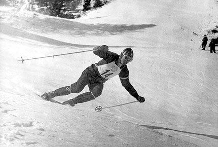 Toni Sailer in Cortina d'Ampezzo