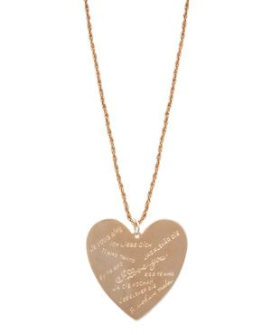 I Love You Heart Necklace in different languages- Rose tone. Cute!