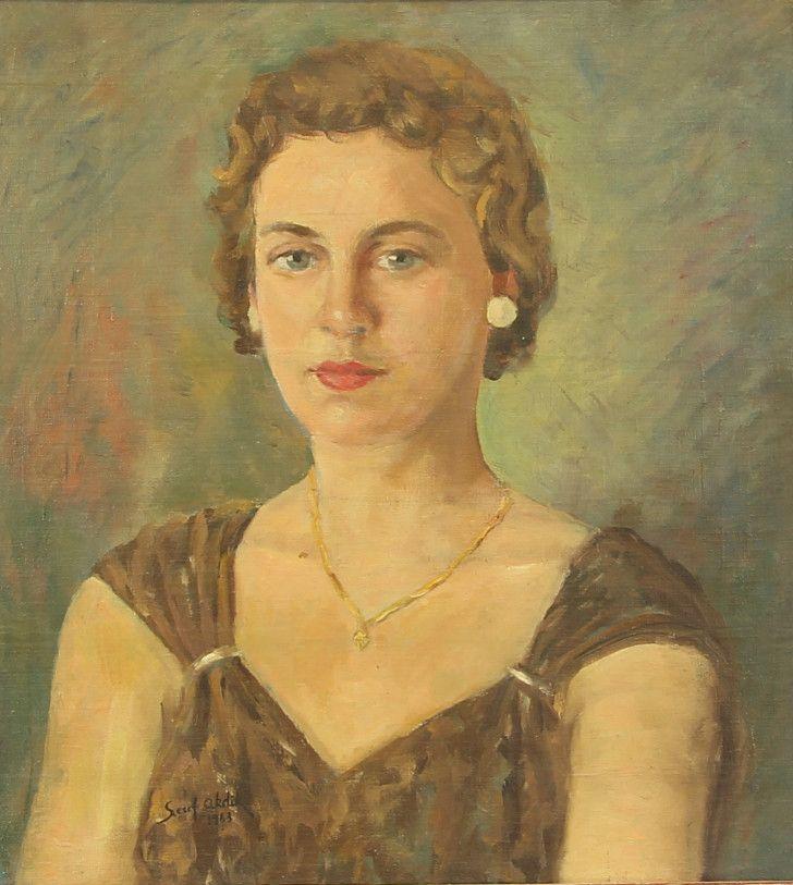 Şeref Akdik (1899 – 1972)   Kadın Portresi, 1963