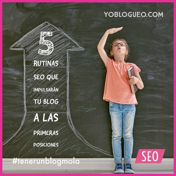 5 rutinas SEO que impulsarán tu blog a las primeras posiciones! Porque necesitamos un empujón a diario ... si no nos dormimos y al final nos comen la merienda! Os dejo el enlace en los comentarios! . . #tenerunblogmola #yoblogueo #SEO #blogging #mirutinabloguera