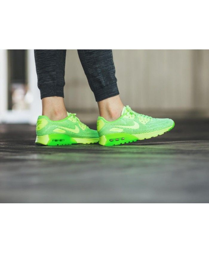 Nike Air Max 90 Ultra Breathe Electric Green And Yellow Shoes Sale ... b6ff9b4551