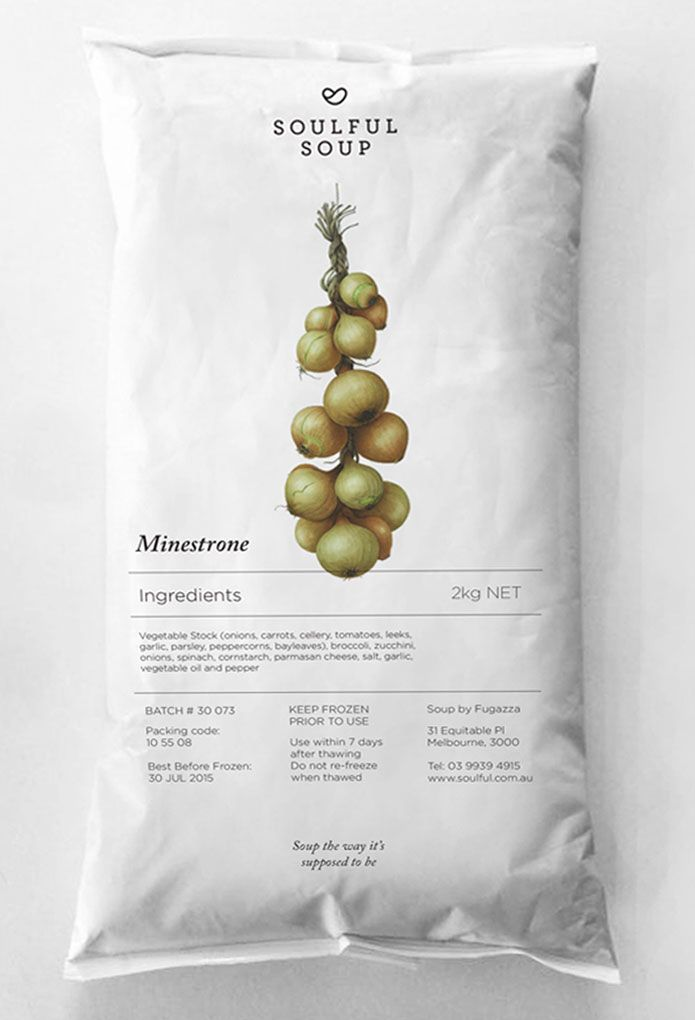 soup packaging #minimalist