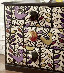 fabric-covered dresser tutorial