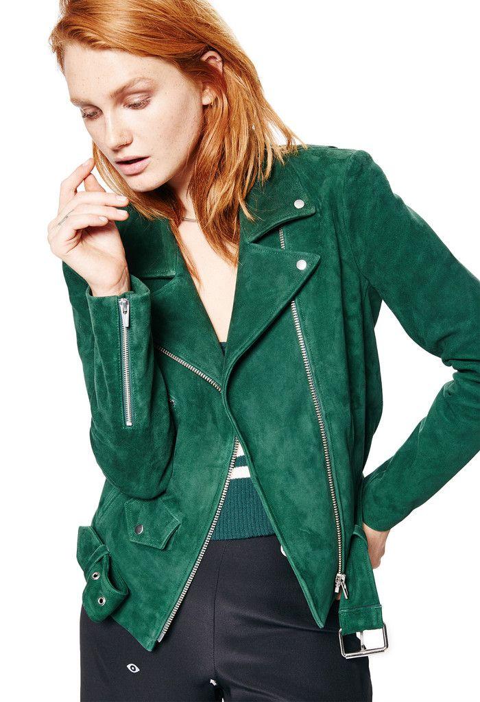 Jayne Suede Jacket Bottle Green Jackets Of All Trades Suede