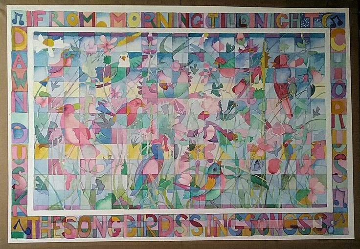 """""""Songbirds Sing Song"""".    Watercolour"""
