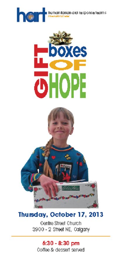 Gift Boxes of Hope Event in Calgary