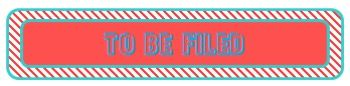 Fun File Folder Labels or labels for Paper Tray